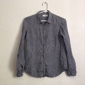 Linen Gingham Button-Up from Uniqlo